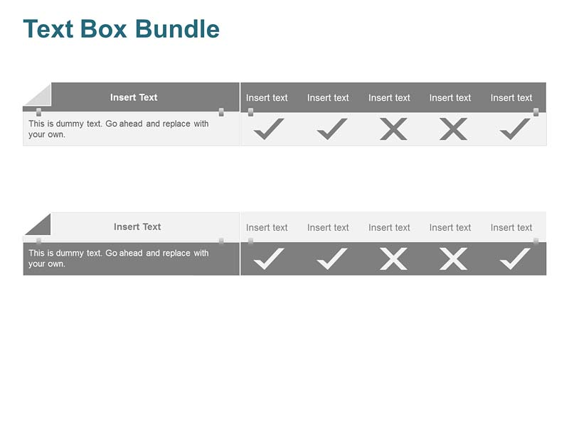 Ready-to-use Check Boxes PowerPoint Slides
