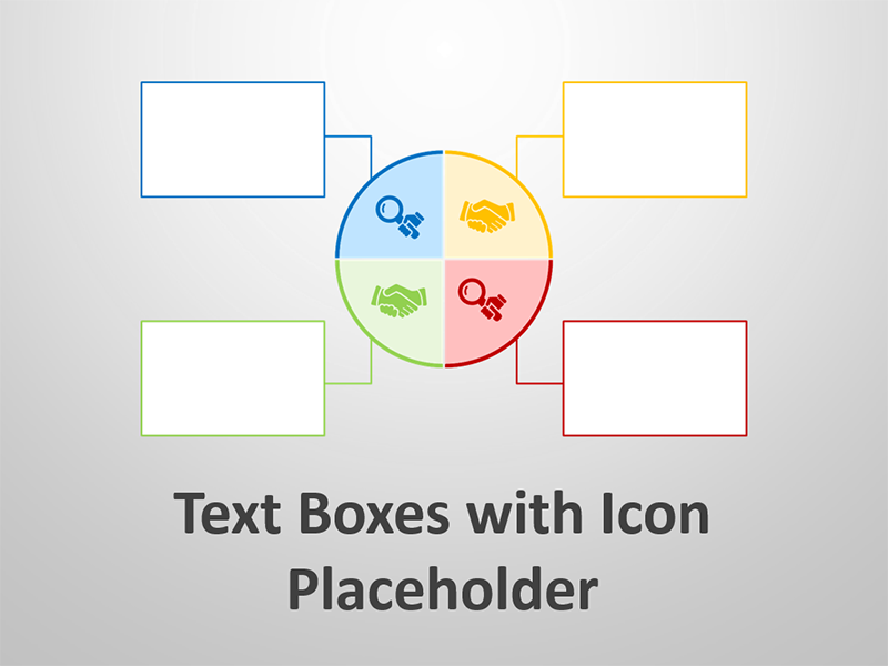 Text Boxes with Icon Placeholder - Editable PowerPoint Presentation