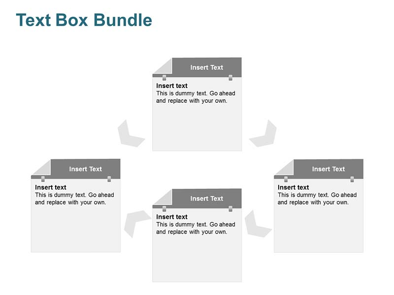 4 Stages Text Box PPT Slides