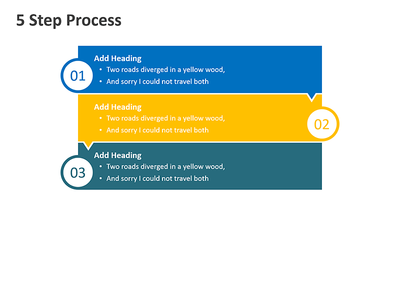 Steps Flow Process Diagram - PowerPoint Slide