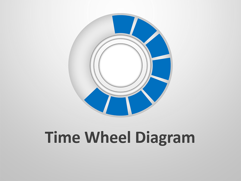 Business Time Wheel Diagram - Editable PowerPoint Presentation