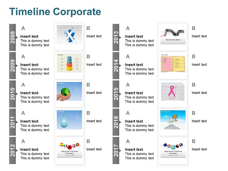 Corporate Timeline - PowerPoint Illustrations