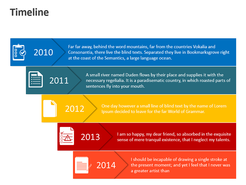 Timeline Illustration - Editable PPT Slide