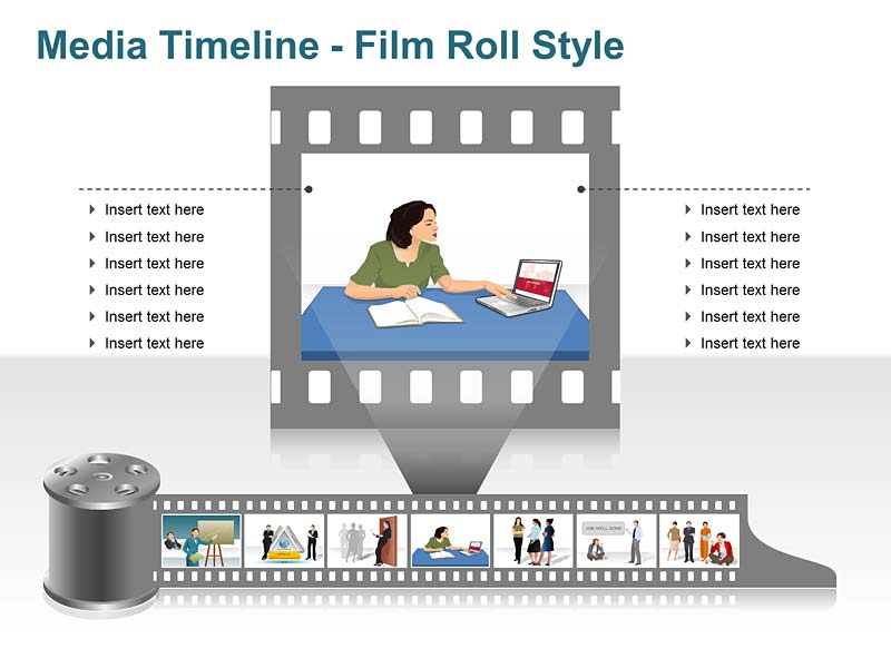 Editable Photo Timeline PPT Slide