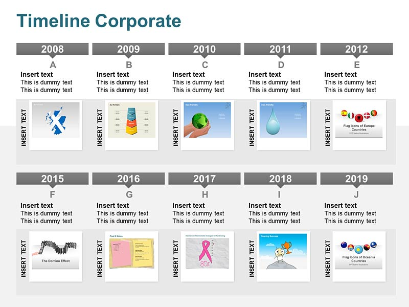 Corporate Timeline - Editable Vector Graphics