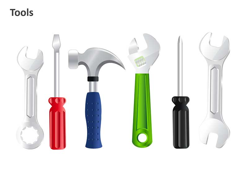 PPT Slide Fixing Tools and Instruments