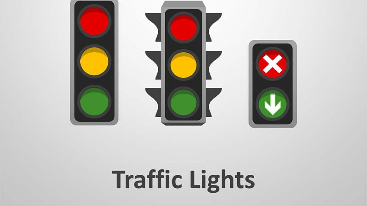Traffic Lights Editable Powerpoint Template