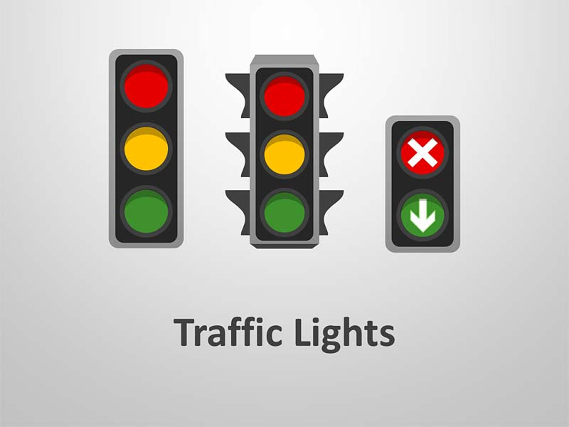 Traffic Light PowerPoint Illustration