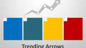 Trending Arrows Diagram - Editable PowerPoint Slide