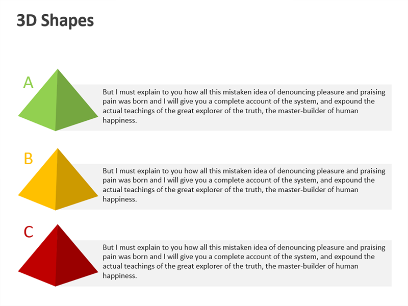 Conical Shape for Business Presentation - PowerPoint Slide