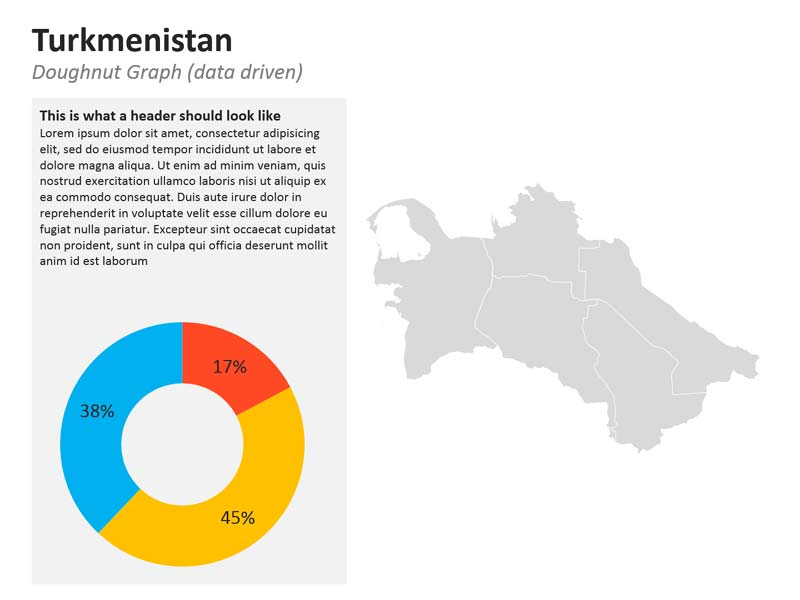 PowerPoint Map of Turkmenistan - Graphs