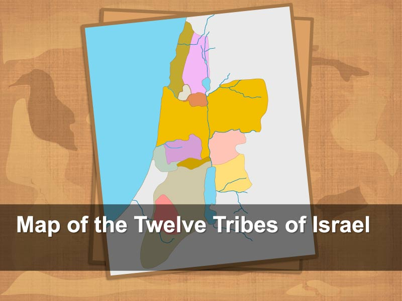 PowerPoint Slides - The 12 Tribes of Israel Map