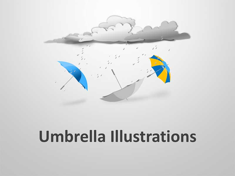 Umbrella Graphics PowerPoint Illustrations