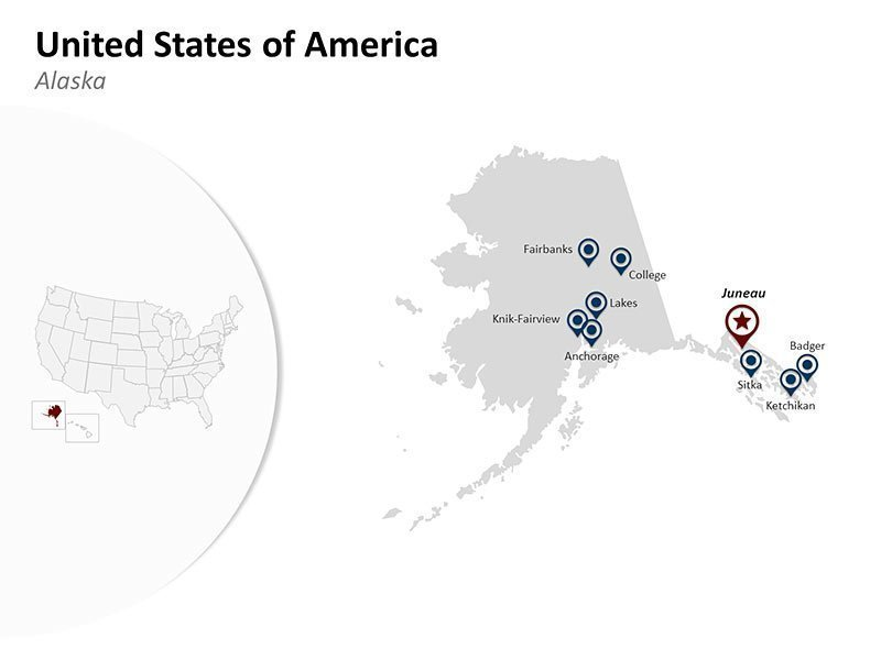 PPT Map of USA - Alaska