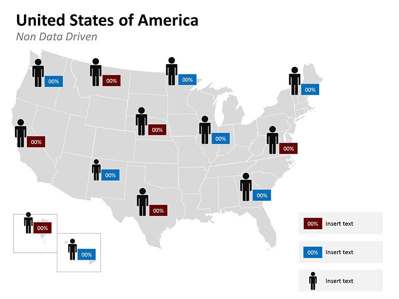 Editable PowerPoint Slides of USA Map - Demographic
