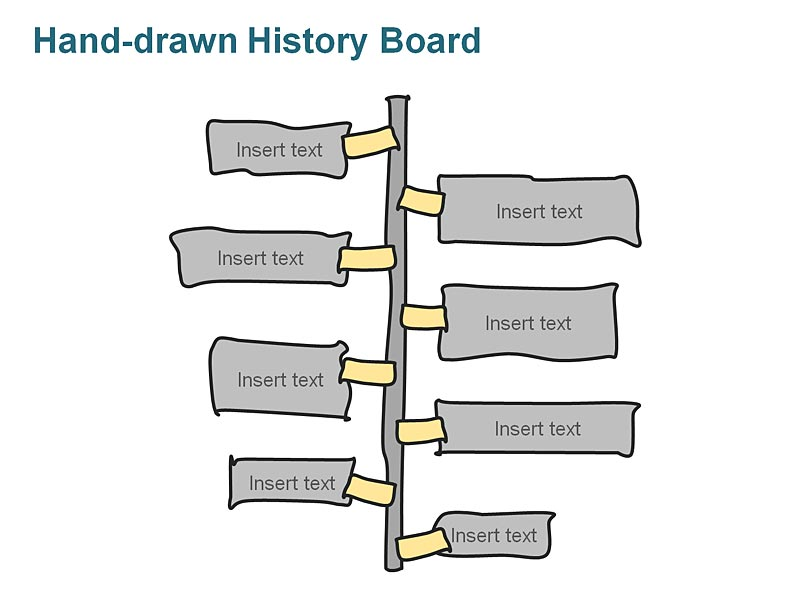 Editable PowerPoint Graphics on Business Management History