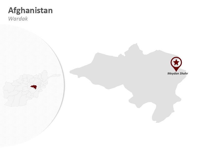 PPT Map of Afghanistan - Wardak