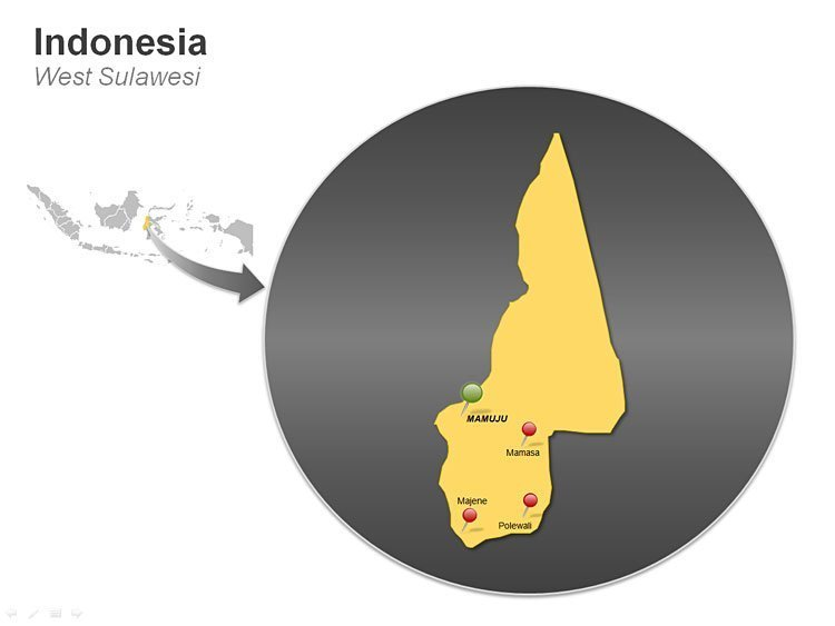 West Sulawesi PPT Map of Indonesia