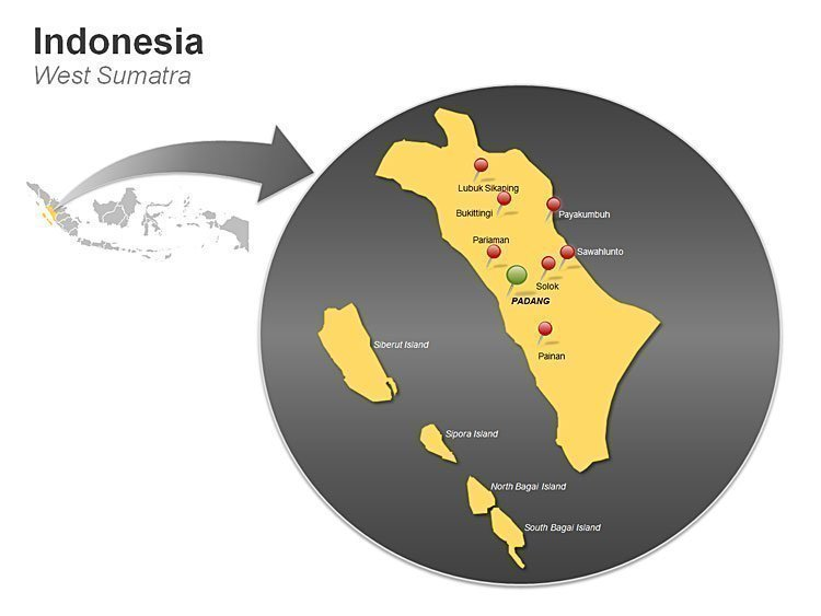 West Sumatra - Indonesia PPT Map