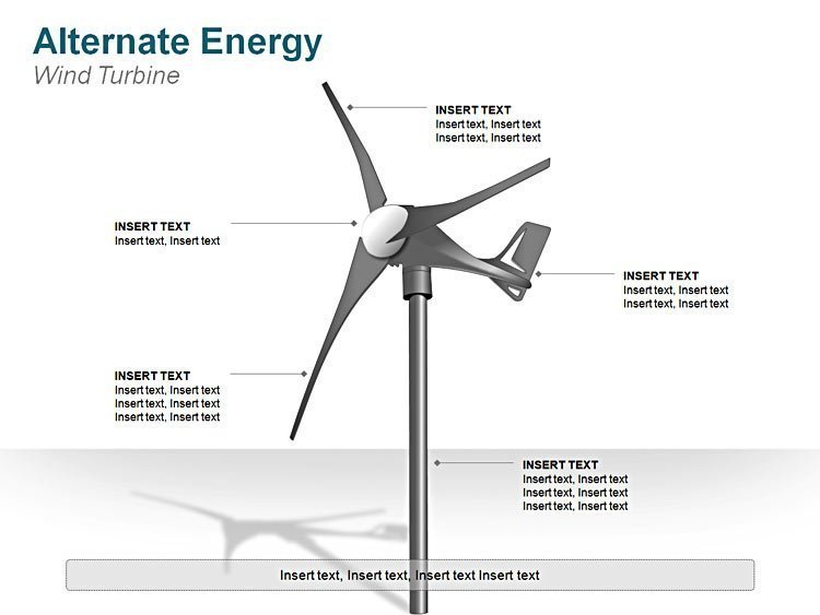 Editable Wind Turbine Image for PPT