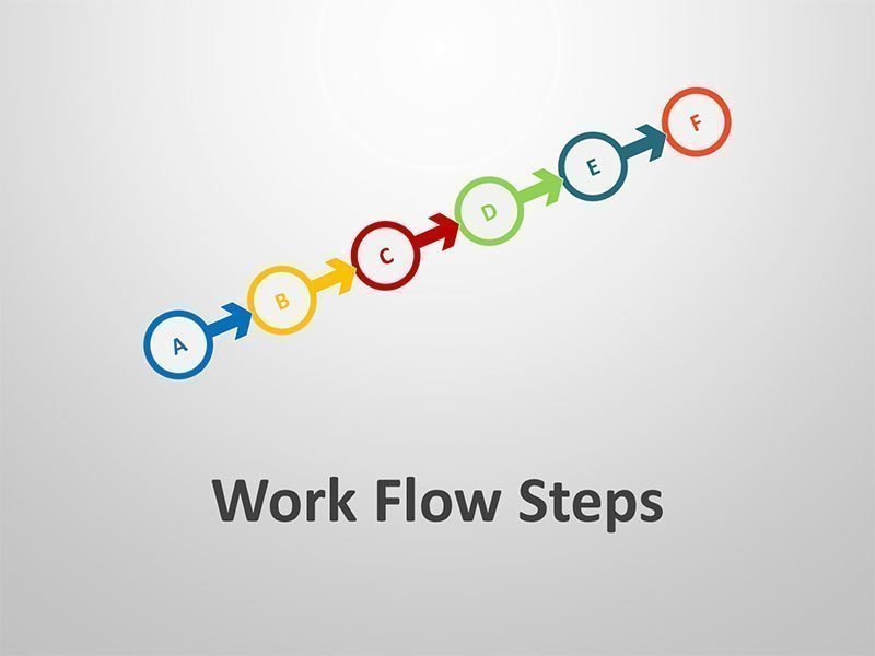Work Flow Steps - PowerPoint Business Diagrams
