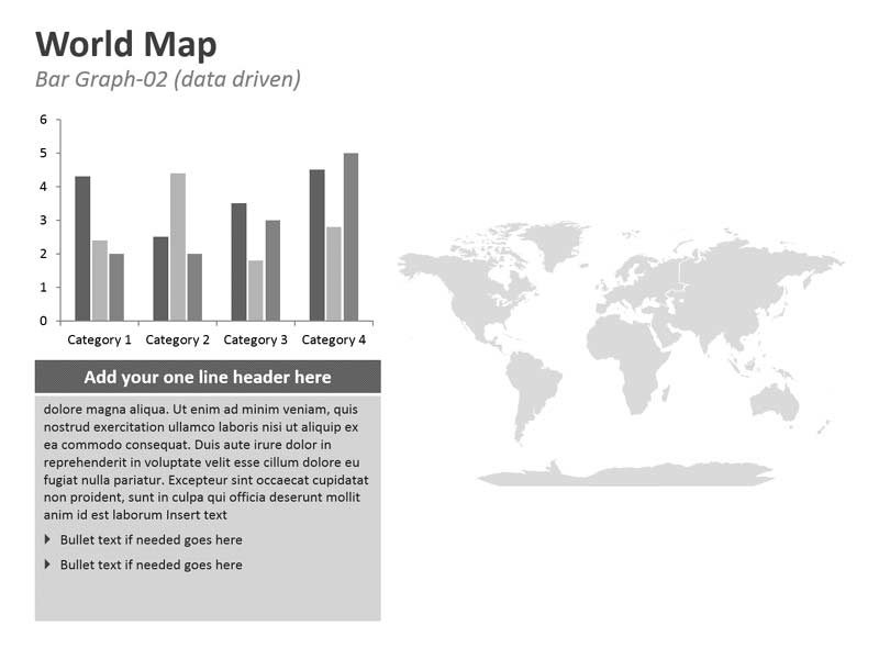 Data Chart on PPT World Map