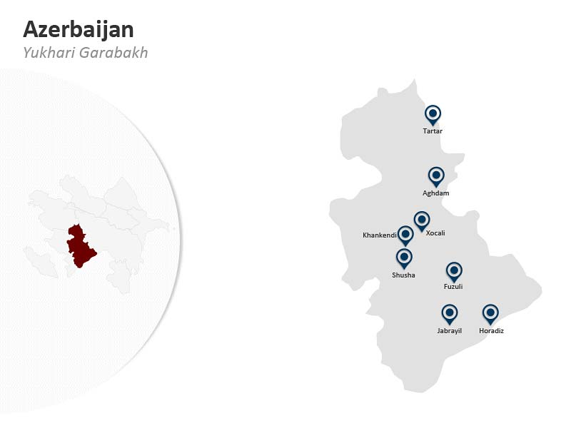 PPT Map of Azerbaijan - Yukhari Garabakh
