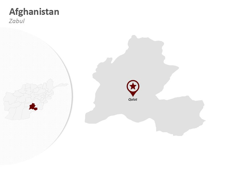 Map of Afghanistan - Zabul