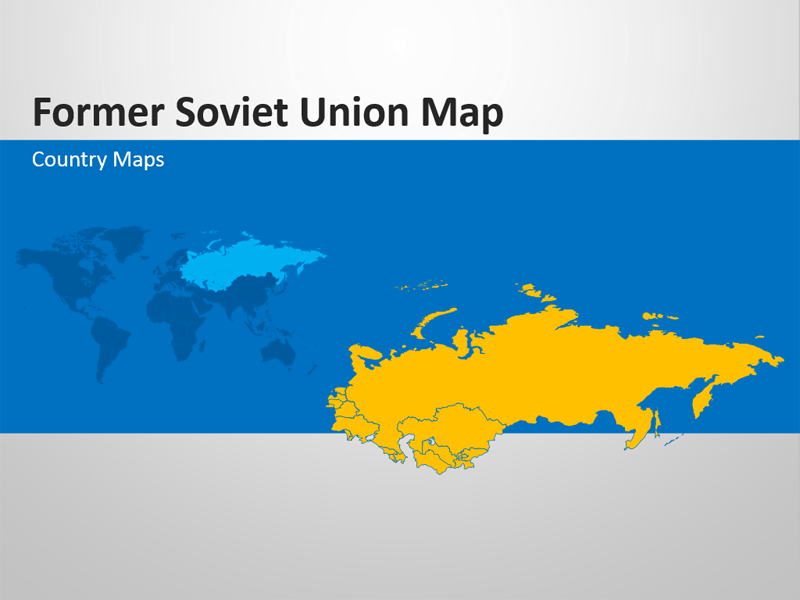 Former Soviet Union Map - Editable PowerPoint Slide