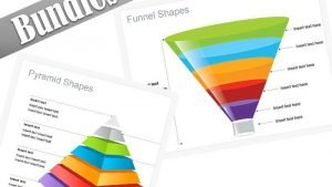 Editable PowerPoint Bundles Pyramid Funnel Shapes Diagrams