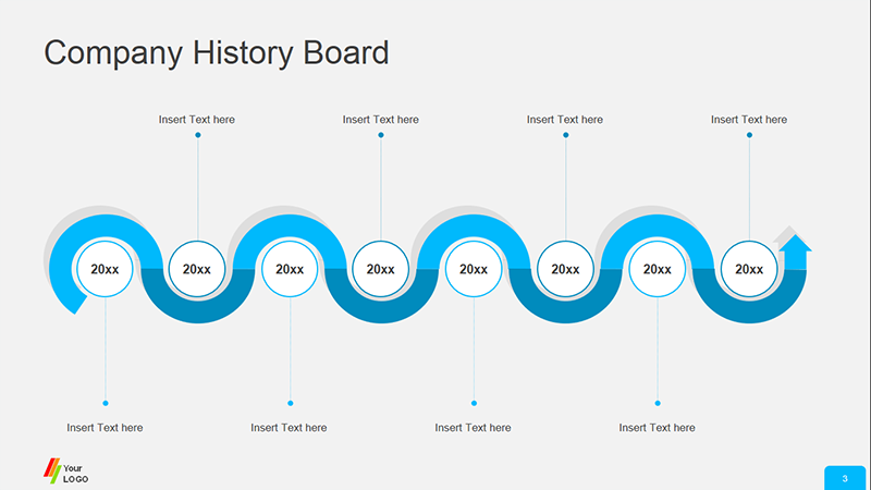 Corporate History Board - PowerPoint Template