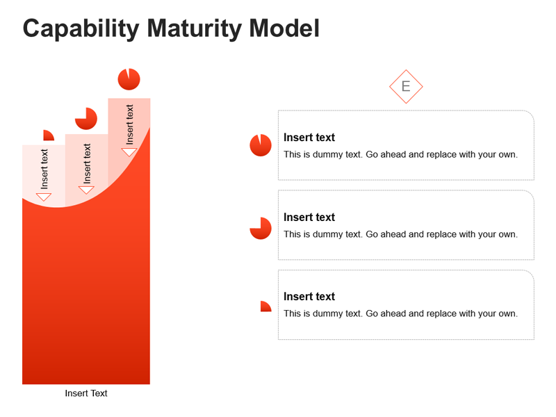Maturity Model Diagram PPT Slide