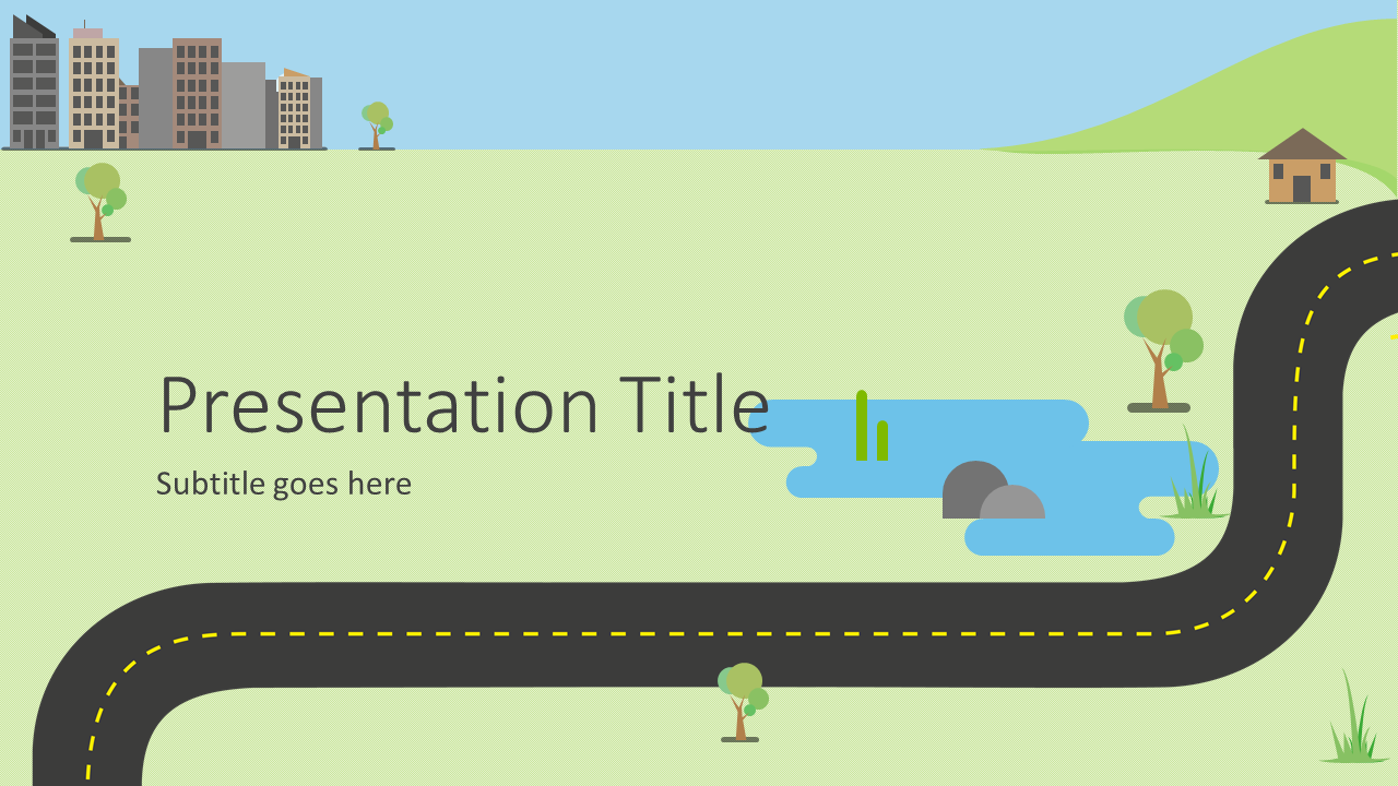 Road Map Infographics PowerPoint Template