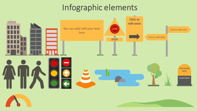 Road Map Timeline Infographic PowerPoint Slide