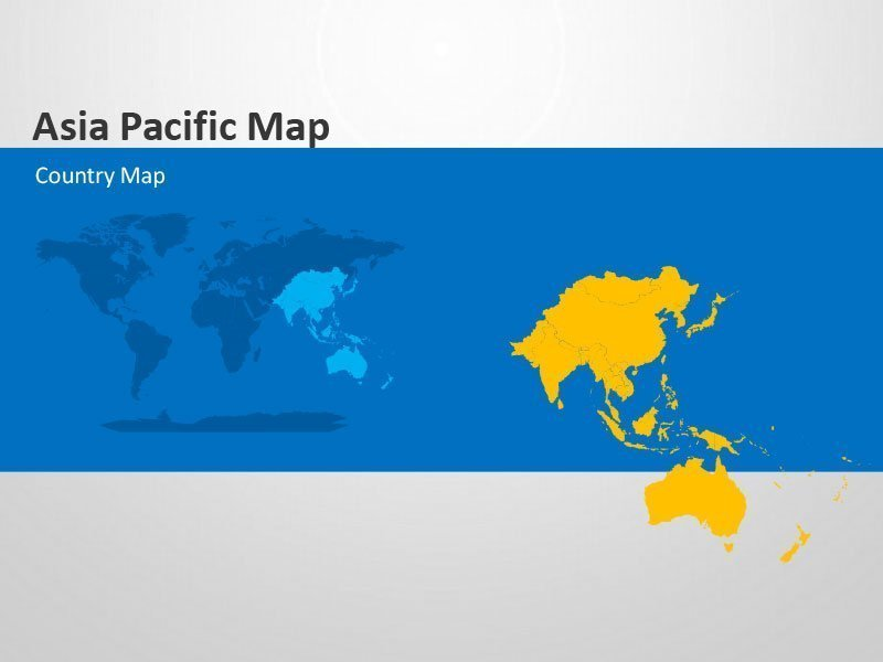 Editable PowerPoint Presentation Asia Pacific Country Maps