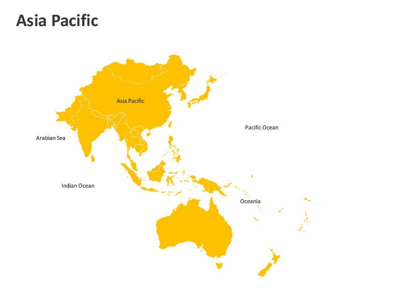 Asia Pacific Geographical PPT Map