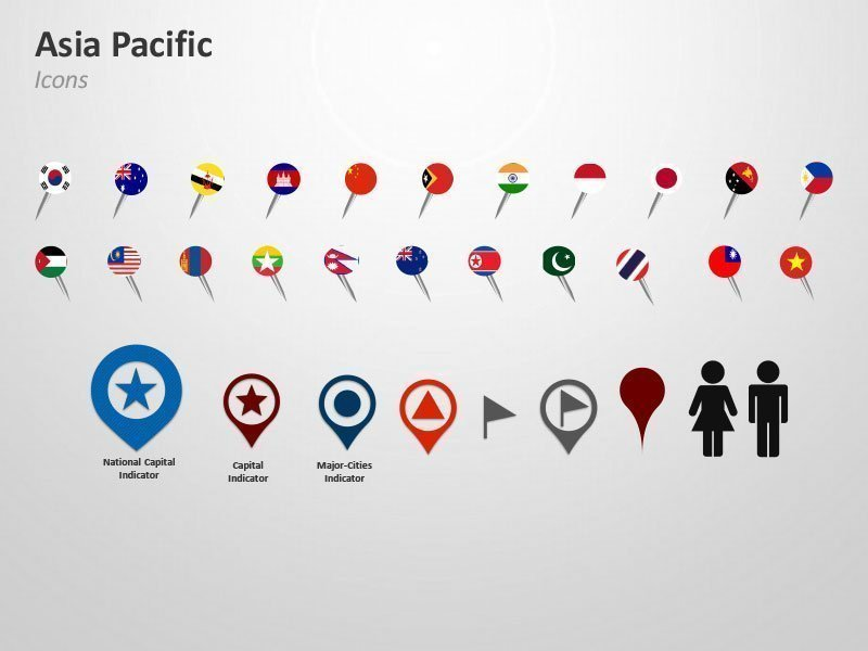 Asia-Pacific-Map-Editable-Icons