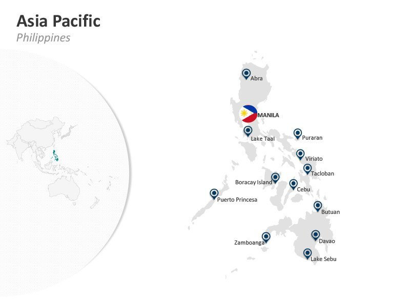 Asia Pacific PPT Map Philippines Manila