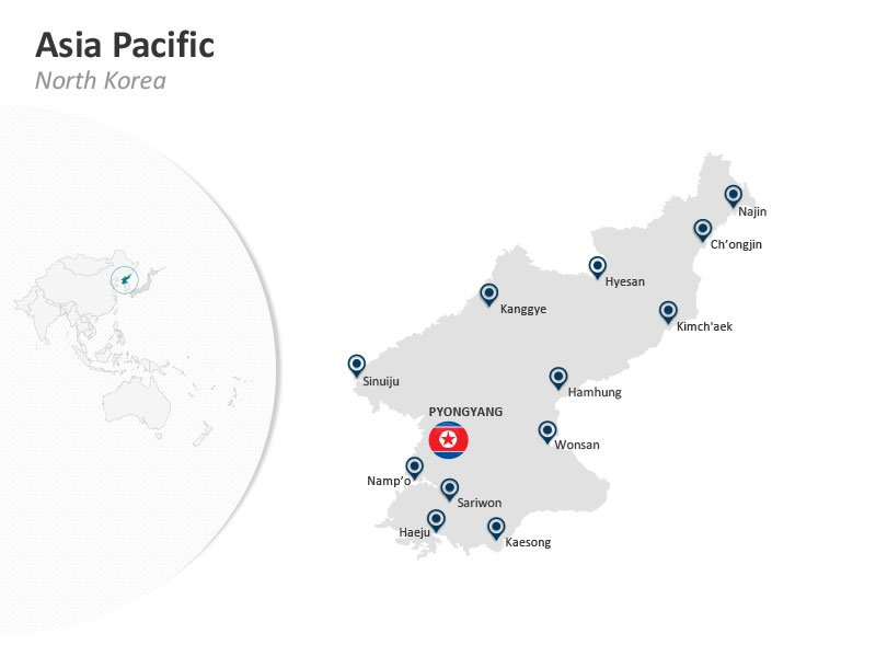 PPT Asia Pacific Map - North Korea Pyongyang