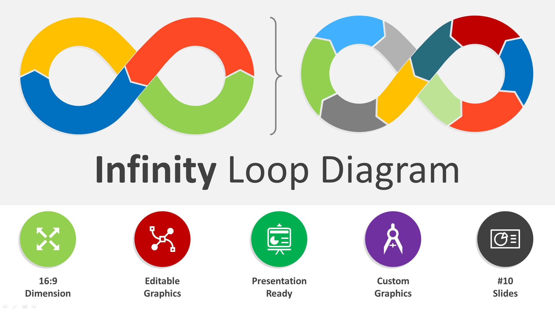 Infinity Loop Base Editable PowerPoint Template