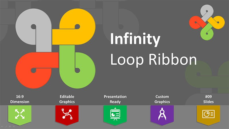 Infinity Ribbon Base Template PPT Editable
