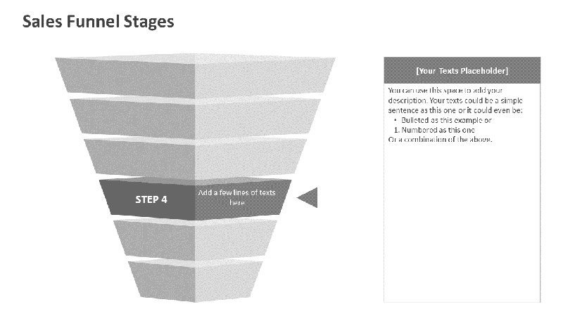 Sales Funnel Stages - Editable PPT Slides
