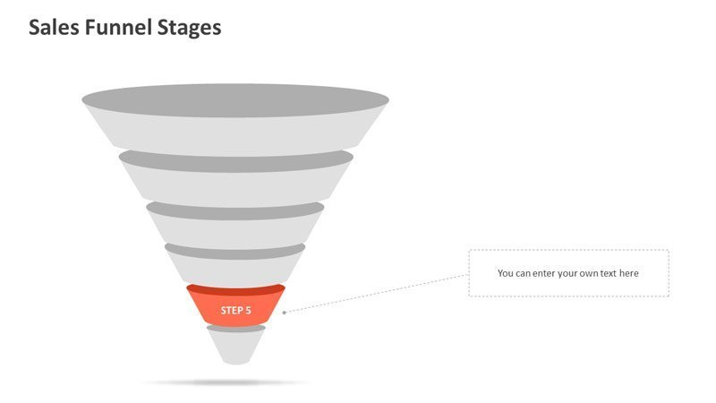 Sales Funnel Stages - PowerPoint Diagram