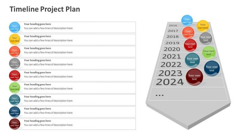 Project Plan Timeline Slide