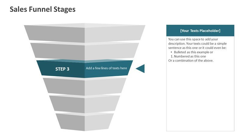 Sales Funnel Stages - PowerPoint Diagrams