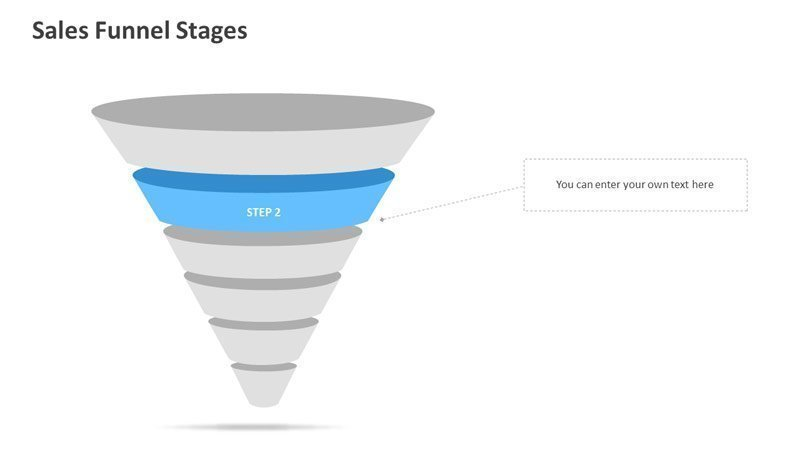 Sales Funnel Stages - PowerPoint Slides