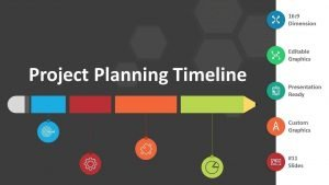 Project Planning Timeline Cover - Editable PPT