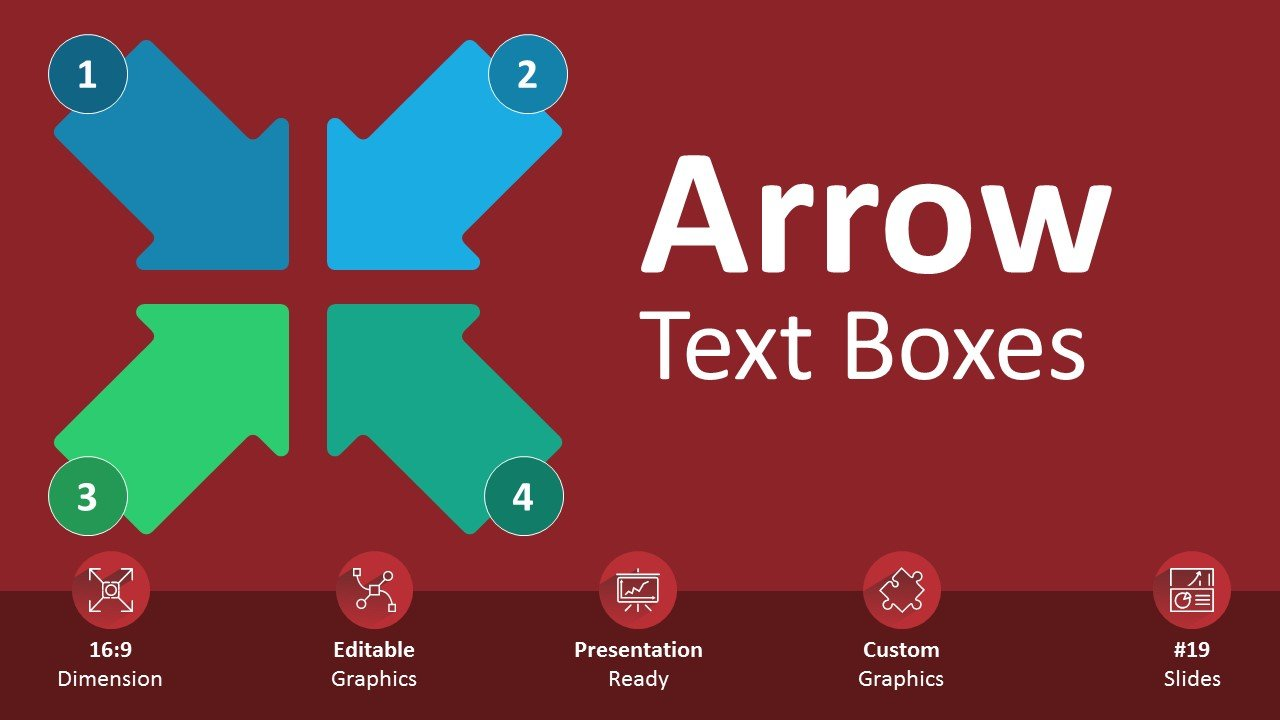 Arrow Text Boxes Cover Page PPT Editable