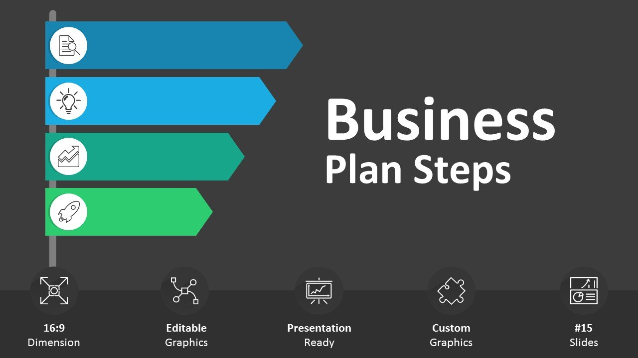 Business Plan Steps - Editable PowerPoint Cover
