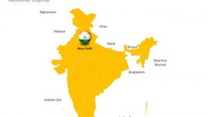 Outline Map of India - Editable PPT Slide